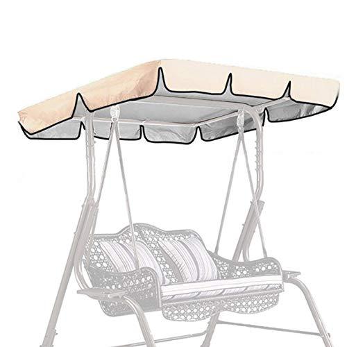 POHOVE Toldo para silla de jardín con 2 plazas, para exteriores, de repuesto, para columpio, para patio, para exterior, a prueba de sol, a prueba de agua, para jardín y césped