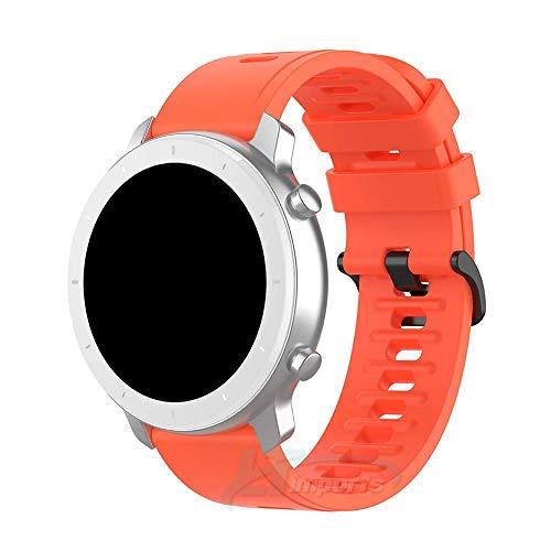 Pulseira Padrão 20mm compatível com Amazfit GTR 42mm - Amazfit Bip - Amazfit GTS - Galaxy Watch 3 41mm - Galaxy Watch Active - Galaxy Watch 42mm - Marca LTIMPORTS (Vermelho)