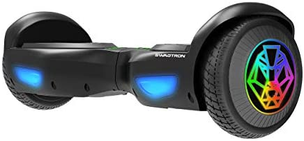 Swagtron Swagboard T882 LED Lithium Free Hoverboard with LED Wheels Startup Balancing Dual 250W product image