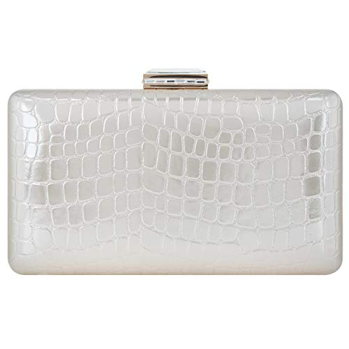 Bonjanvye Crystal Clutch Party Purses and Clutches for Women Evening Bags Silver