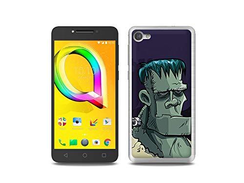 etuo Handyhülle für Alcatel A5 LED - Hülle, Silikon, Gummi Schutzhülle Fantastic Hülle - Frankenstein
