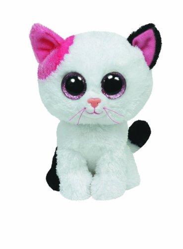 TY 36986 36986-Plüschtier Beanie Boos, Muffin Buddy Katze, Large, weiß/pink