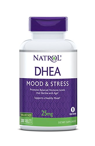 Natrol DHEA Tablets, Promotes Balanced Hormone Levels, Supports a Healthy Mood, Supports Overall Health, Helps Promote Healthy Aging, HPLC Verified, 25mg, 300 Count