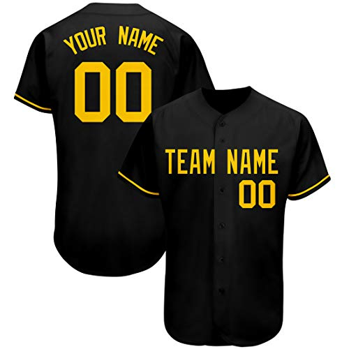 Custom Baseball Jersey Full-Button Shirt Active Sportswear Embroidered Team Name and Numbers for Men/Women/Youth