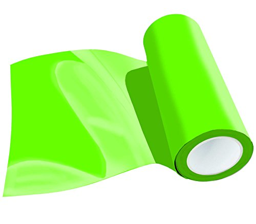 Poli-Flex Premium Flexfolie Meterware 30,5cm 41 Farben Textil-Bügelfolie, Farbe:441 NEON-GREEN