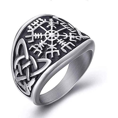 NA Anillos de Acero Inoxidable para Hombres Viking Valknut Vegvisir Pirate Compass Norse Symbol Vintage Jewelry