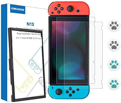 KIWIHOME Nintendo Switch Protector Pantalla (2 Piezas), Cristal Vidrio Templado Protector de Pantalla para Nintendo Switch