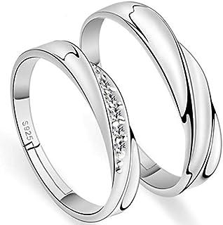Creative Simple Adjustable Couple Rings Fashion Rhinestone Rings