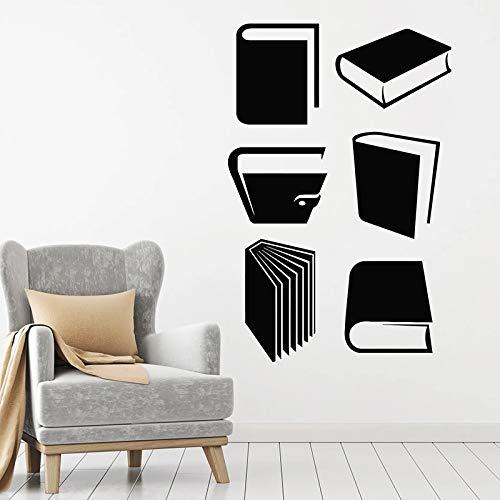 Libro de cuentos calcomanías de pared sala de lectura biblioteca librería conocimiento aula decoración interior vinilo puerta y ventana pegatina mural