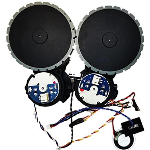 XACQuanyao 1 Juego (L + R) Ruedas de aspiradora Ecovacs Deebot Ozmo 930 Robot aspiradora Piezas Motor de Montaje de Rueda