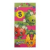 Shopkins Beach Towel - 28 x 58 Inch Cotton Bath Towel for Kids [ Apple Blossom & Strawberry Kiss]