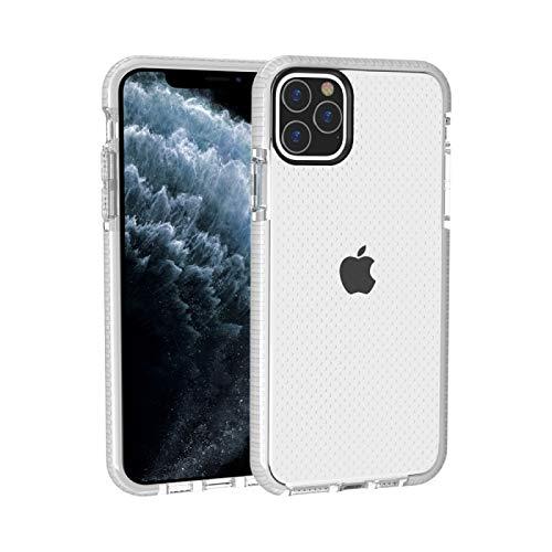 Fulvit para Funda Protectora de TPU Anti-colisión de Textura de Baloncesto para iPhone 11 Pro MAX Casos antiedad (Color : White)