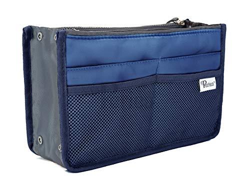 Periea Organizador de Bolsos Bosillo para Cartera 12 Compartimentos - 20 Colores – Chelsy - Pequeña, Medio o Grande (Azul Real, Grande)