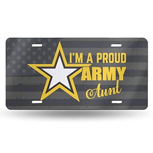 MYGED Ich bin ein stolzer US-amerikanischer wasserdichter Metall-Waschtisch-Autokennzeichen Metall-Autokennzeichen, Aluminium-Neuheits-Kennzeichen, 6 x 12 Zoll
