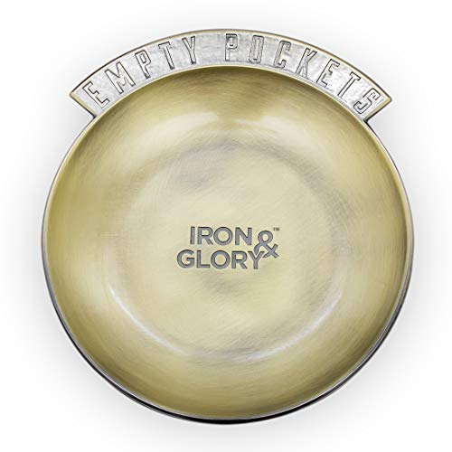 Iron and Glory IAGEP zakgeld-dienblad – nachtkastje van metaal voor wissels, sleutels, munten, sieraden, horloge, koptelefoon, zink