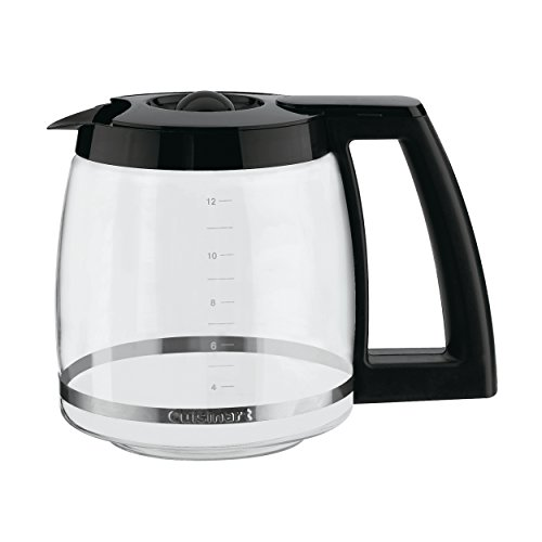 Cuisinart 12-Cup Replacement Glass Carafe, Black, 12 Cup