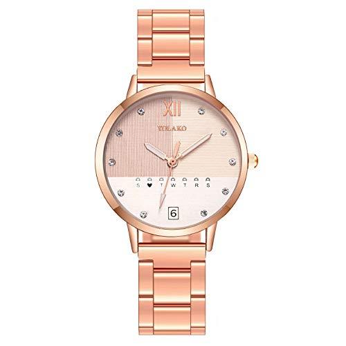 Relojes de pulsera a la moda, colores a juego, reloj de pulsera para mujer, reloj de mujer, correa de acero, reloj de cuarzo.