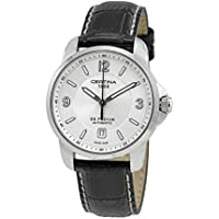 Certina DS Podium Automatic Silver Dial Black Leather Men's Watch