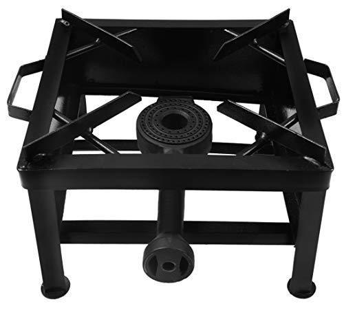 CAY Single Burner MS Black Color Powder Coating Square Gas Bhatti/Stove...