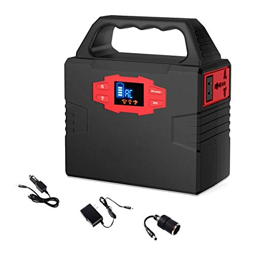 GRUCORE 151Wh Portable Generator Power Station 40800mAh CPAP Battery Pack with 110V 150 Watt AC Inverter, DC12V, DC 12V, USB Ports
