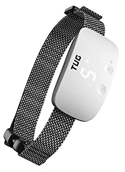 TUG Rechargeable Bark Collar  Adjustable Modes  Waterproof  Exclusive Easy Touch Interface - Buttons on Front of Device to Adjust While Being Worn  White