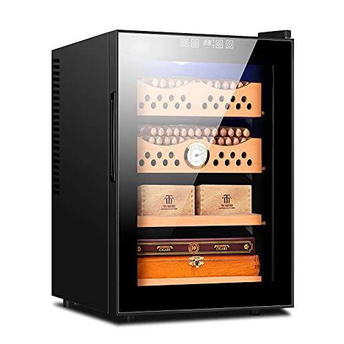 CIGARLOONG Electronic Cigar Humidor 300 Count Cigar Intelligent Temperature Control 1.76 Cubic Feet Cabinet