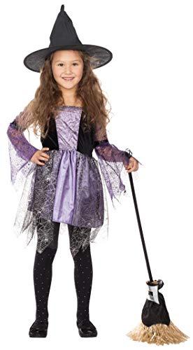 Rubies 12357 - Hexe Cara - Mädchen Halloween Kostüm Gr. 104 - 128 (128)
