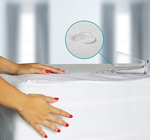 CLOEN Sabana Bajera Ajustable Tencel, Impermeable y Transpirable. Antialérgica. Absorbe la Humedad (135 x 190 cm)