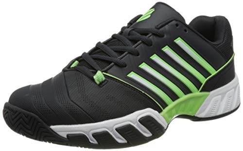 K-Swiss Men's Bigshot Light 4 Tennis Shoe, Blue Graphite Soft neon Green White, 10 UK