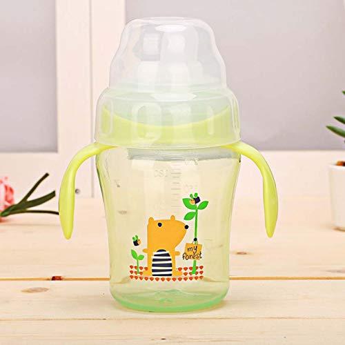 Bebé Niños Niño Color dulce Paja Sippy Cup Biberón inclinado Botellas de alimentación Tazas de agua 240Ml
