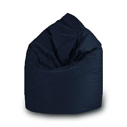 Pouf goutte imperméable en polyester pour extérieur 75 x 120 cm Taille L bleu marine