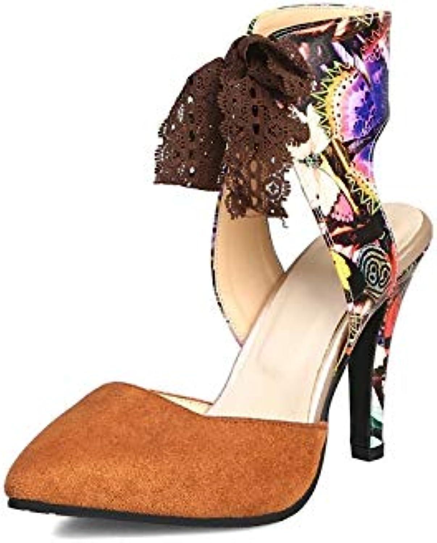 MENGLTX High Heels Sandalen 2019 Neue Ankunft Frauen Sandalen Spitz Sommer Schuhe Dünne High Heels Lace Up Party Hochzeit Schuhe Frau