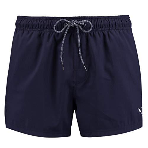 PUMA Herren Badehose Badeshorts Logo Short Length Swim Shorts, Farbe:Navy, Bekleidungsgröße:XL