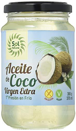 SOLNATURAL Aceite De Coco Virgen Extra Mediano Bio 370 Ml 200 g