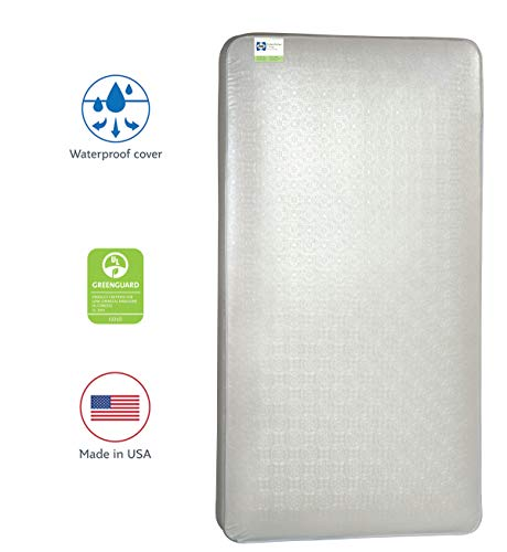 Sealy Baby Posture Perfect 2-Stage Dual Firmness Hybrid Waterproof Standard Toddler & Baby Crib Mattress - Soybean Memory Foam & 150 Premium Coils, 51.63' X 27.25'