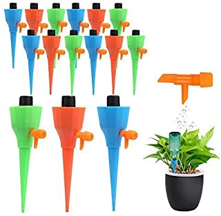 PiscatorZone 15Pcs Plant Self Watering Spikes for Different Diameter Bottles, Automatic Irrigation Spikes with Adjustable ...