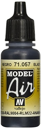 Vallejo Model Air Acrylfarbe, 17 ml Schwarz