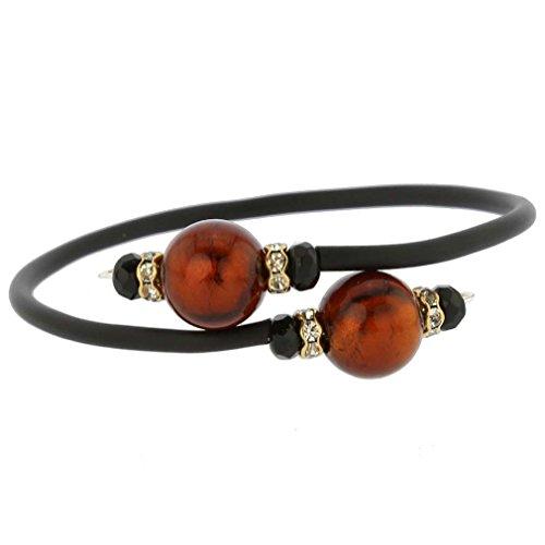 GlassOfVenice Venezianisches Glamour Armband - Goldener Mokka