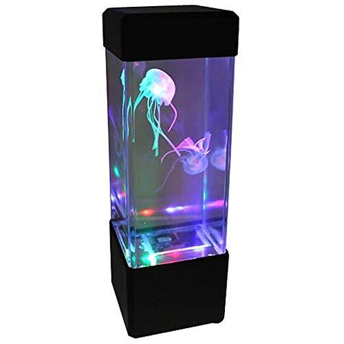 Ndier Fantasie Quallen LED Licht 5 Farbe wechselnden Licht Jelly Fish Tank Aquarium Stimmungs Lampen für Hauptdekoration Schwarz |Batterie Nicht im Lieferumfang enthalten Homeproduct