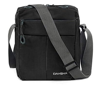 DAHSHA Nylon Padded Sling Cross Body Messenger Travel Office Business Messenger one Side Shoulder Bag for Men Women (20 X 9 x 26 cm)