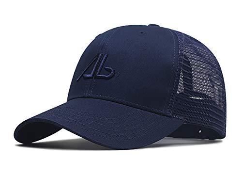 [Lovechic] キャップ メンズ 帽子 特大 メッシュ 大きいサイズ 60-65cm 深め 綿 春夏 秋 男女兼用(ネイビー-A)
