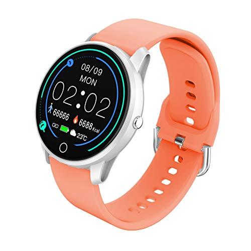 BIGCHINAMALL Relojes Inteligentes Pulsera Actividad Smartwatch Mujer (Naranja)