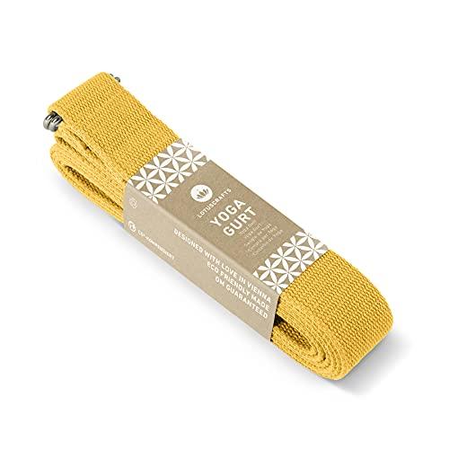 Lotuscrafts yogabälte - 100% bomull (KBA) - för bättre stretching - för nybörjare och...