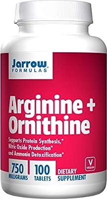 Jarrow Formulas Arginine + Ornithine 100 Capsules