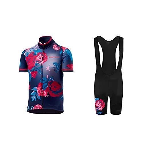 Uglyfrog Bike Wear-Promi Plaid-Malerei Design Herren Sport Top Trikot Men\'s Bike-T Full Zip +Bib Kurze Hosen with Gel Pad Anzüge for Rennen