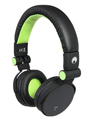 OMNITRONIC SHP-i3 Stereo-Kopfhörer grün mit Freisprecheinrichtung und Musikweiterschaltung | Integrierte Freisprecheinrichtung und Mikrofon für iPhones und andere gängige Smartphones