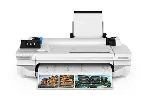 HP DesignJet T125 da 61 cm 5ZY57A, Formati Supportati da A1 ad A4, Velocità 60 Pagine A1 all'Ora, Fast Ethernet, USB Hi-Speed 2.0, Wi-Fi, Bianco