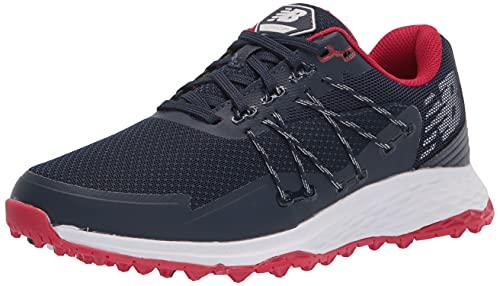 New Balance Men's Fresh Foam PaceSL Golf Shoe, Navy/Red, 8.5