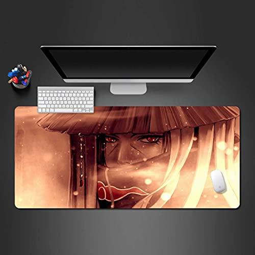 YRUJBT Tapis de Souris Gamer 900x400x2mm Etendu Grand Tapis de Souris XXXL Surface en Tissu Base Antidérapante Garçon ninja anime lumière et ombre Gaming Mouse Pad pour Tous Types de Souris et Clavier