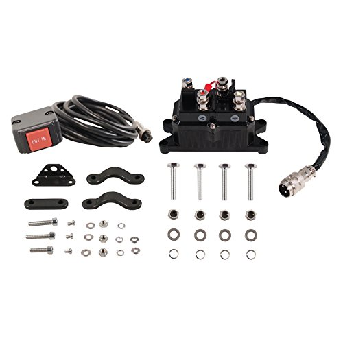 Extreme Max Remote SW & RLY Assy RUNVA 5600.3060 Universal Replacement Contactor/Relay with Handlebar Rocker Switch Kit for 2000-3600 lb. ATV Winches
